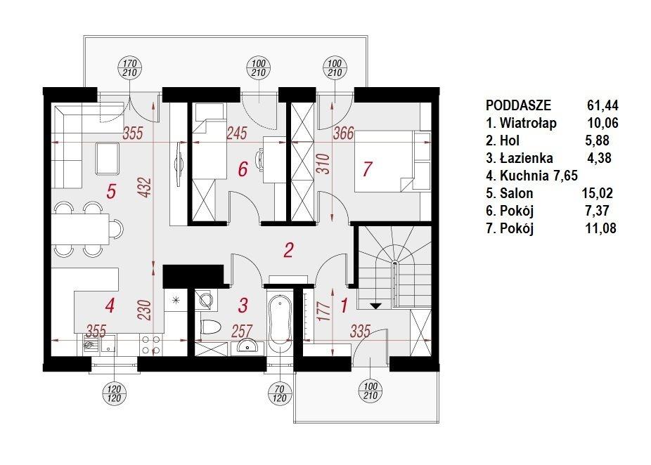 Mieszkanie trzypokojowe na sprzedaż Rzeszów, Słocińska  62m2 Foto 3