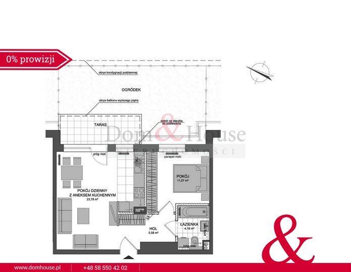 Mieszkanie dwupokojowe na sprzedaż Rumia, Stoczniowców  46m2 Foto 5