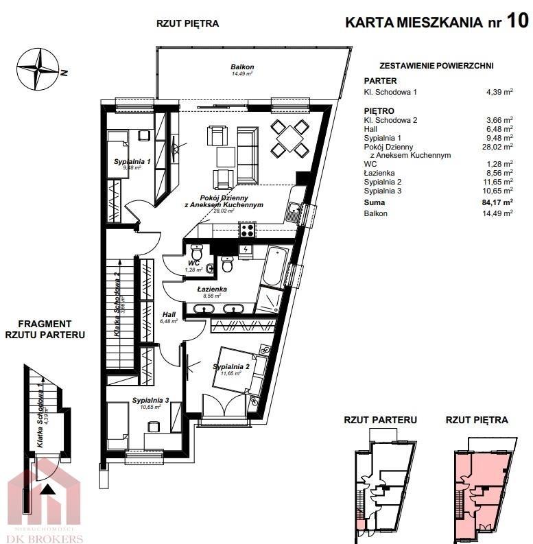 Mieszkanie czteropokojowe  na sprzedaż Rzeszów, Wilkowyja, Jana Olbrachta  85m2 Foto 1
