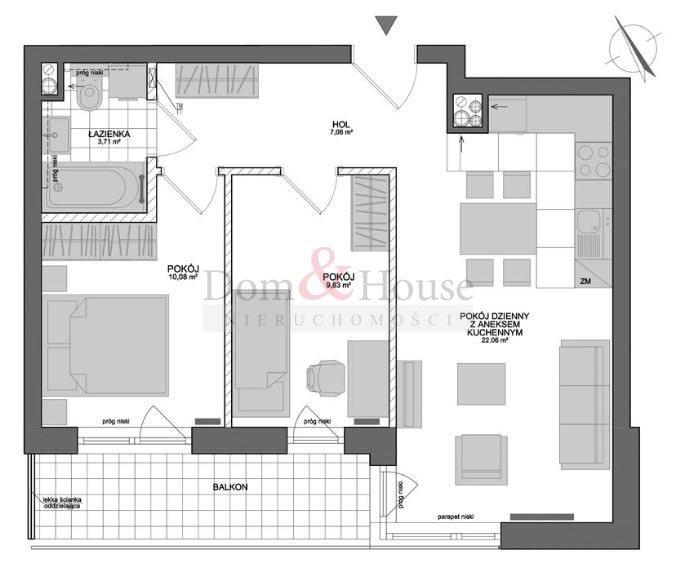 Mieszkanie trzypokojowe na sprzedaż Gdynia, Chylonia, Chylońska  55m2 Foto 3
