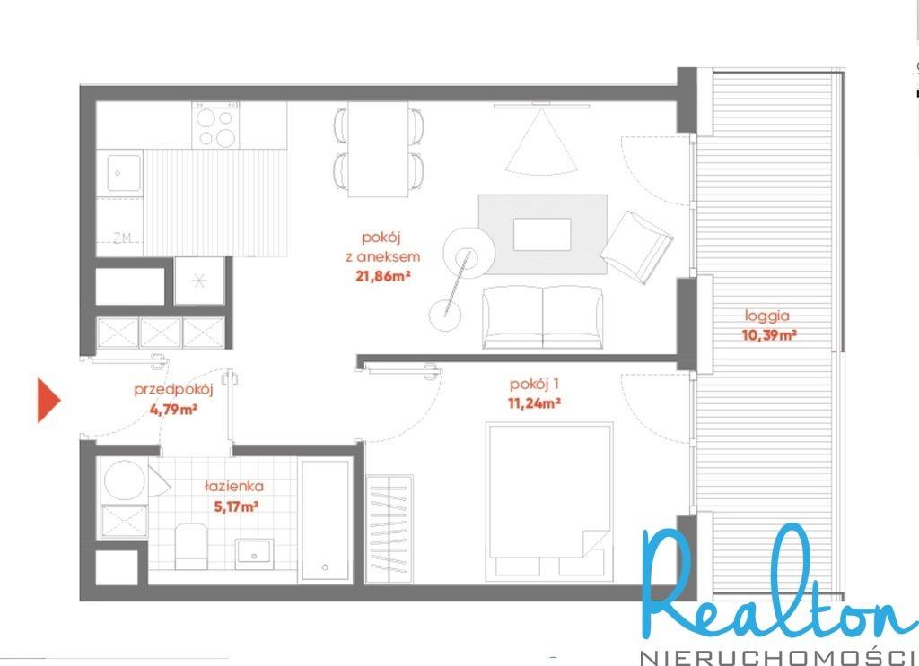 Mieszkanie dwupokojowe na sprzedaż Katowice, Centrum, Henryka Mikołaja Góreckiego  43m2 Foto 9