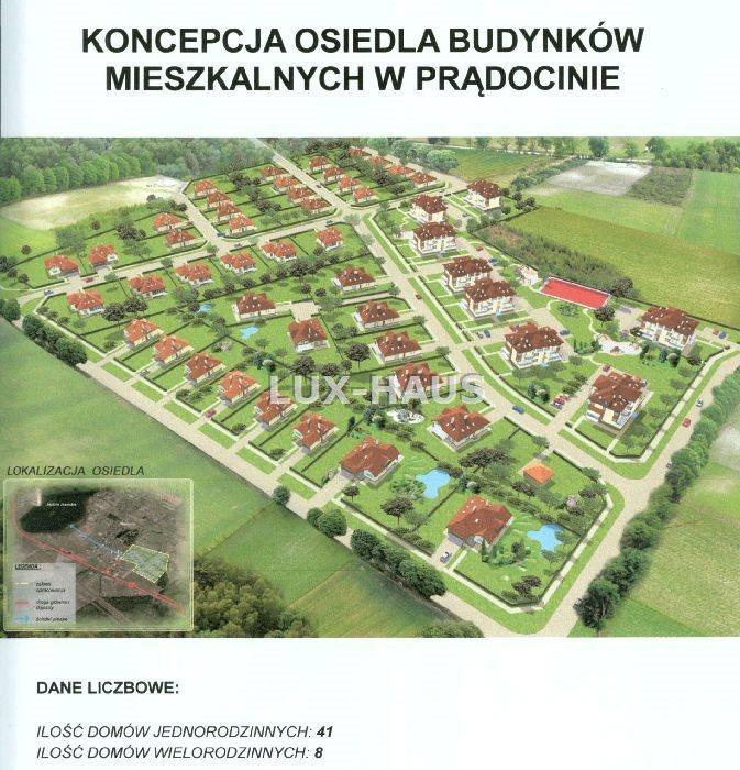 Działka budowlana na sprzedaż Prądocin  843m2 Foto 1