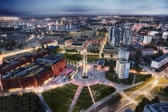 Nowe mieszkanie trzypokojowe DOKI LIVING Gdańsk, Śródmieście, ks. Jerzego Popiełuszki/Rybaki Górne  69m2 Foto 11