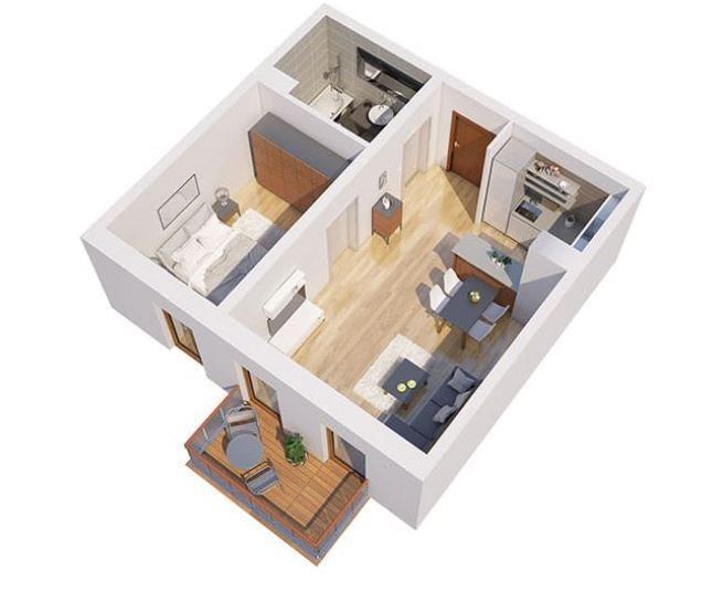 Nowe mieszkanie dwupokojowe Apartamenty Blisko Centrum Poznań, Śródka, Ul. Chlebowa 28  45m2 Foto 3