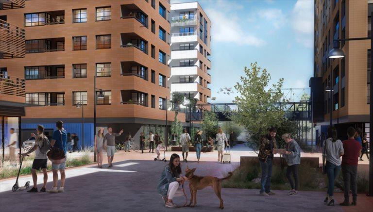 Nowe mieszkanie trzypokojowe DOKI LIVING Gdańsk, Śródmieście, ks. Jerzego Popiełuszki/Rybaki Górne  69m2 Foto 1