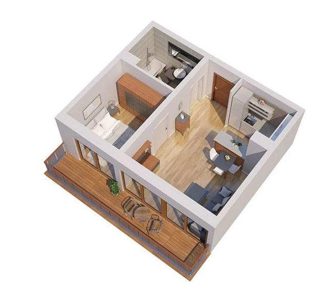 Nowe mieszkanie dwupokojowe Apartamenty Blisko Centrum Poznań, Śródka, Ul. Chlebowa 28  45m2 Foto 4