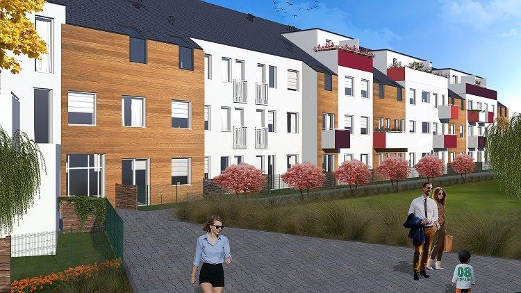 Nowe mieszkanie czteropokojowe  Osada Kolorowa Wrocław, Maślice, Maślicka  79m2 Foto 3
