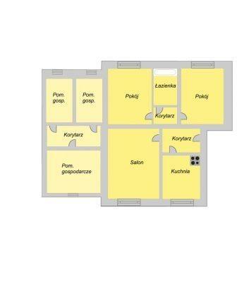 Mieszkanie trzypokojowe na sprzedaż Toruń, Zawały, Zawały  53m2 Foto 6