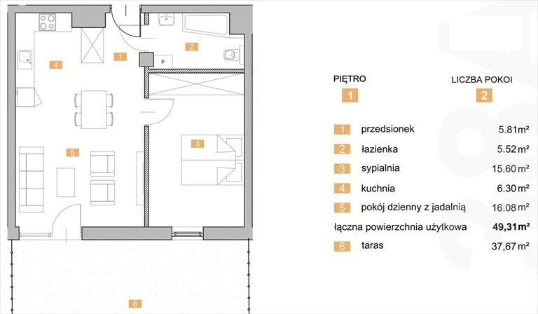 """Nowe mieszkanie dwupokojowe """"NOWA KIELECKA"""" Sosnowiec Sosnowiec, Zagórze, Kielecka  49m2 Foto 1"""