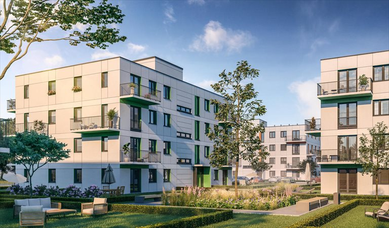 Nowe mieszkanie trzypokojowe Zielone Zamienie IV Zamienie, Waniliowa/Czekoladowa  58m2 Foto 3