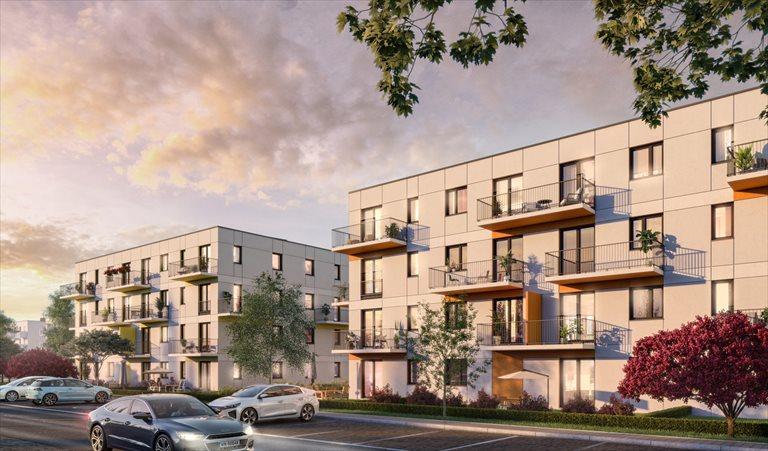 Nowe mieszkanie trzypokojowe Zielone Zamienie IV Zamienie, Waniliowa/Czekoladowa  58m2 Foto 2