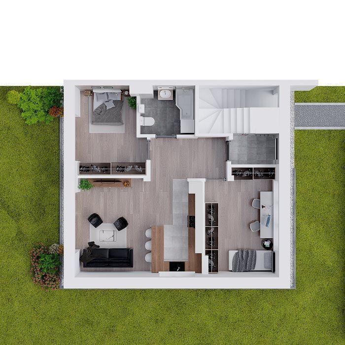 Nowe mieszkanie trzypokojowe Osiedle Ulica Srebrna Zielonki, Marszowiec, Ulica Srebrna, Galicyjska  62m2 Foto 8
