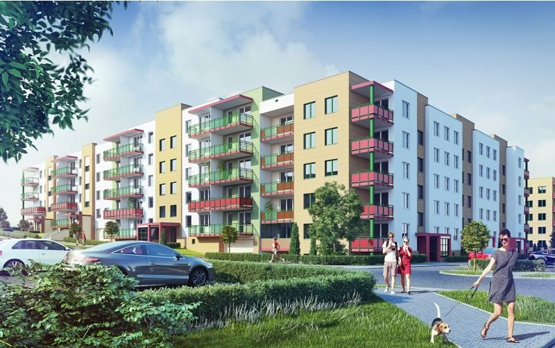 Nowe mieszkanie dwupokojowe SŁONECZNY DOM ETAP G-IV Lublin, Wrotków, ul. Rodakiewicza 5  47m2 Foto 1