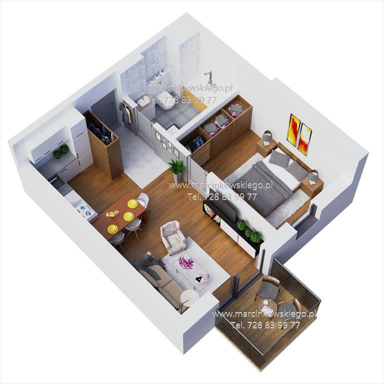 Nowe mieszkanie dwupokojowe MARCINKOWSKIEGO Katowice, Zawodzie, Marcinkowskiego 11  39m2 Foto 1