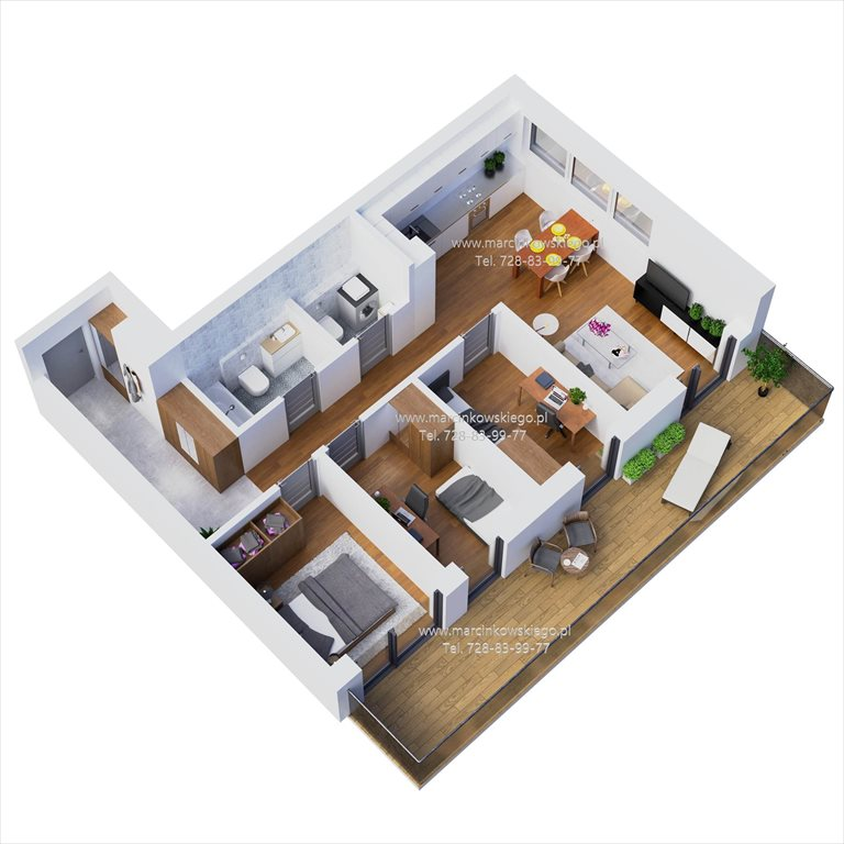 Nowe mieszkanie czteropokojowe  MARCINKOWSKIEGO Katowice, Zawodzie, Marcinkowskiego 11  60m2 Foto 1