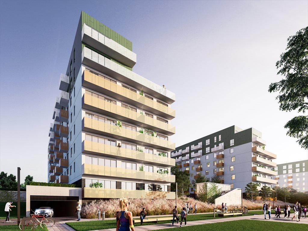 Nowe mieszkanie dwupokojowe Mieszkaj w Mieście etap Aktorów (H) Bronowice, Wizjonerów  39m2 Foto 1
