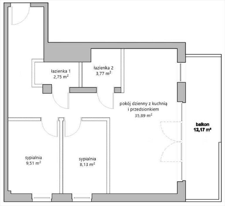 Nowe mieszkanie trzypokojowe MARCINKOWSKIEGO Katowice, Zawodzie, Marcinkowskiego 11  60m2 Foto 1