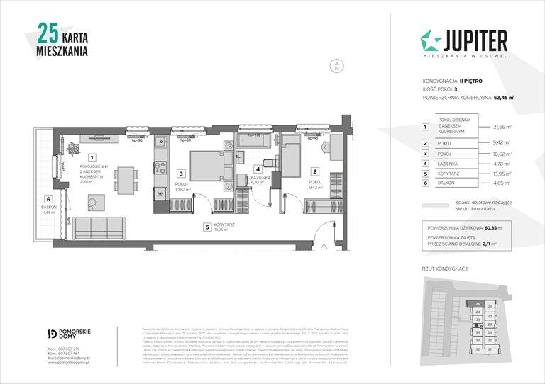Nowe mieszkanie trzypokojowe Jupiter Gdańsk, Osowa, Galaktyczna 20  62m2 Foto 10