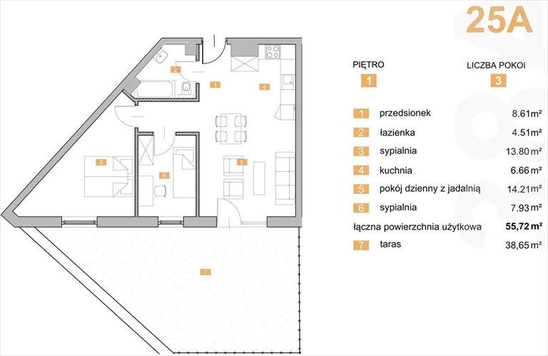 """Nowe mieszkanie trzypokojowe """"NOWA KIELECKA"""" Sosnowiec Sosnowiec, Zagórze, Kielecka  56m2 Foto 1"""