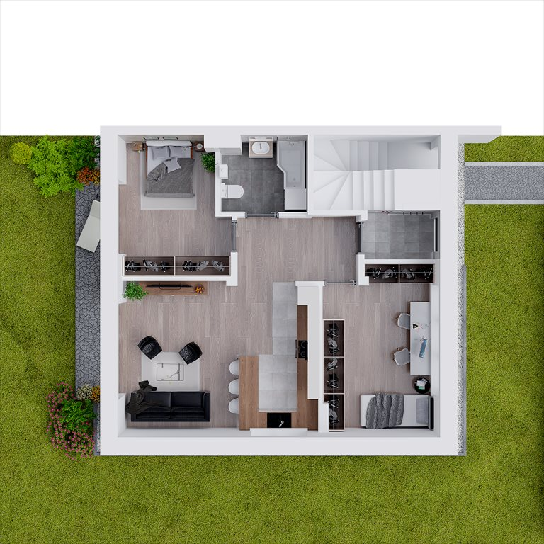 Nowe mieszkanie trzypokojowe Osiedle Ulica Srebrna Zielonki, Marszowiec, Ulica Srebrna, Galicyjska  62m2 Foto 9