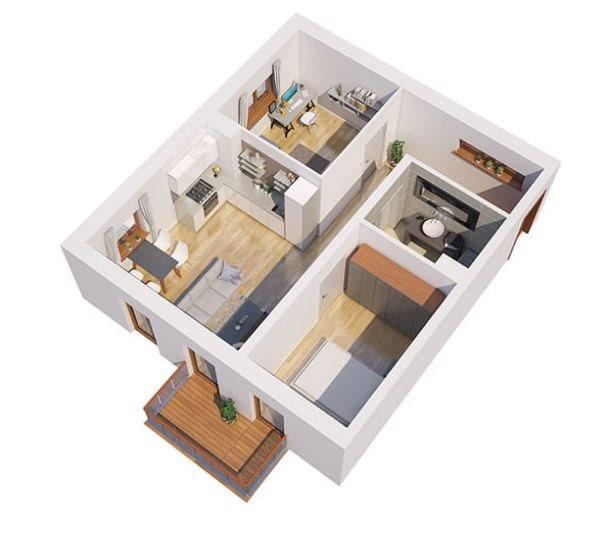 Nowe mieszkanie dwupokojowe Apartamenty Blisko Centrum Poznań, Śródka, Ul. Chlebowa 28  45m2 Foto 5