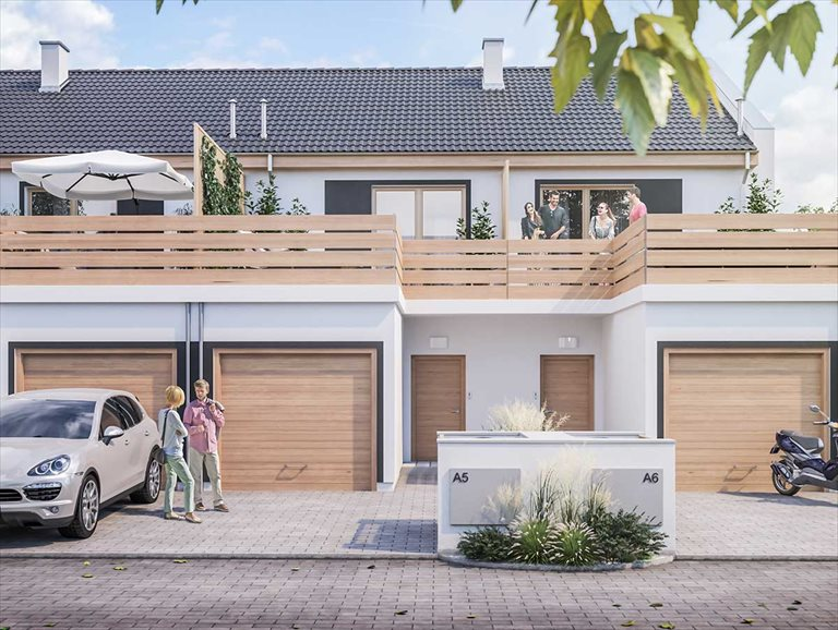 Nowe mieszkanie trzypokojowe Osiedle Tęczowe Dachowa, Gmina Kórnik, Turkusowa  58m2 Foto 1